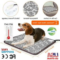 Pet Electric Heat Pad Blanket Heated Heating Mat Dog Cat Bun
