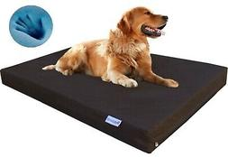 "Waterproof XL Large Orthopedic MEMORY FOAM Pet Dog Bed 47""X2"
