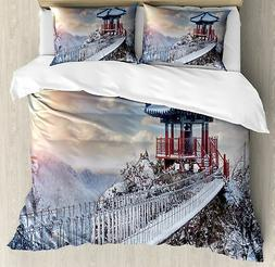 Winter Duvet Cover Set Twin Queen King Sizes with Pillow Sha