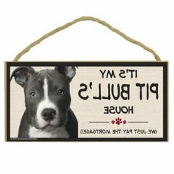 Imagine This Wood Breed Decorative Mortgage Sign, Pit Bull