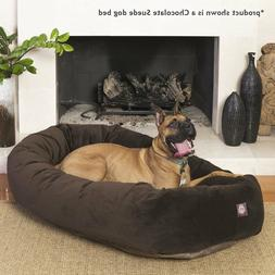 XL Dog Bed Chocolate Brown Pet Extra Large Breed Majestic Ba