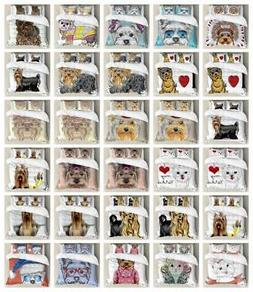 Yorkie Duvet Cover Set Twin Queen King Sizes with Pillow Sha